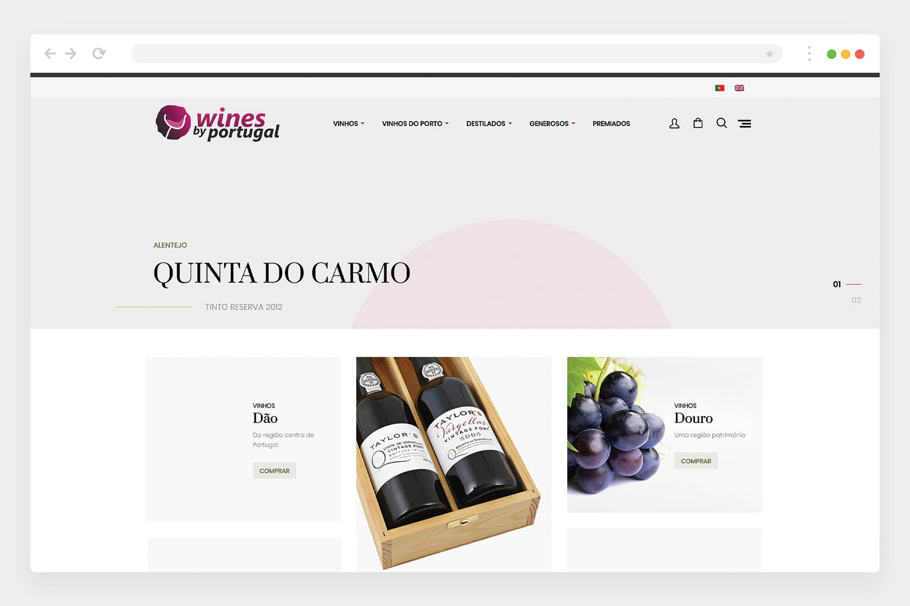Website Wines by Portugal